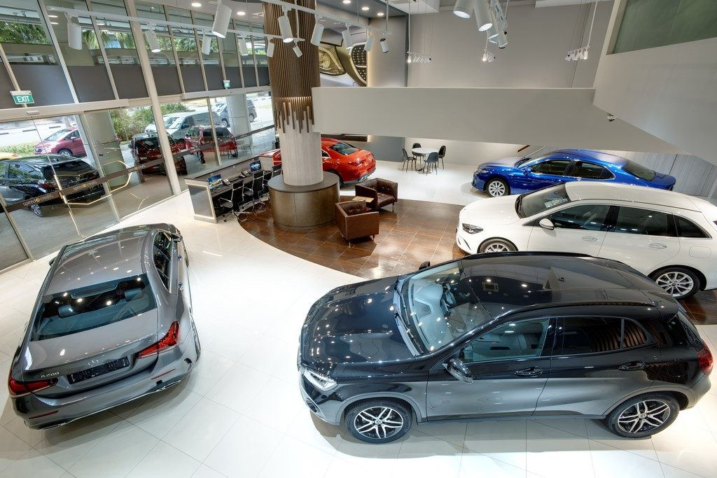 Cars & Stars Showroom Interior Top View